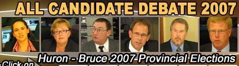 Huron-Bruce 2007 Provincial Election Coverage